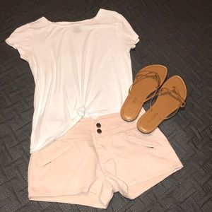 Light Pink Jean Shorts